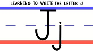 Write the Letter J - ABC Writing for Kids - Alphabet Handwriting by 123ABCtv