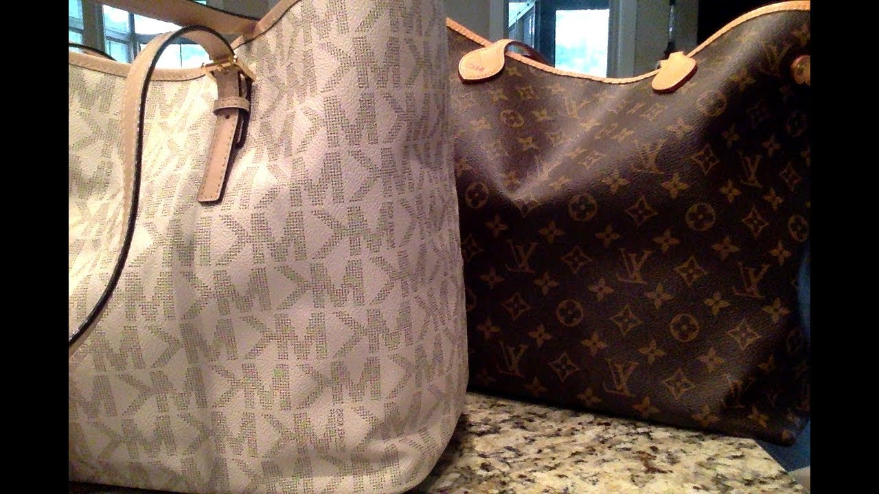 836f6aef66cc Michael Kors tote or Louis Vuitton Neverfull - YouTube