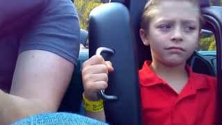 first ride on a roller coaster funny