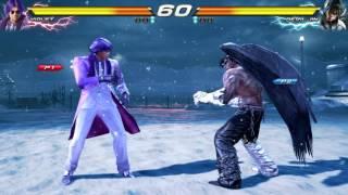 TEKKEN 7 (PS4) - Violet / Lee Vs. Devil Jin Gameplay [1080P 60FPS]