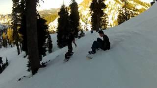 Gopro Alpine Meadows Snowboarding Final Run Of Day Drive Home Hd 720p 3-4-12