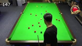Hi-end Snooker : Noppon Saengkham practicing 147 @ Hi-end