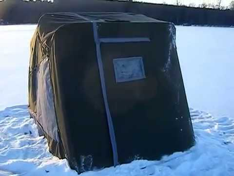 Homemade Flipover Ice Hut