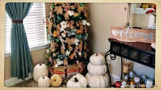🍁Neutral Fall Decorate With Me🍂Entryway/Foyer🍁FarmHouse