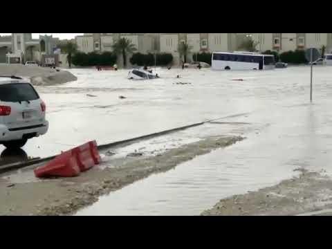 Major Flooding in Doha, Qatar ( 20 10 2018)