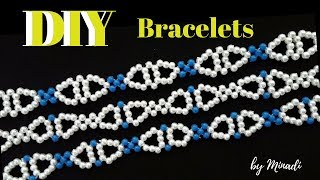 How to make 3 beaded bracelets using the same pattern. Easy DIY Bracelets