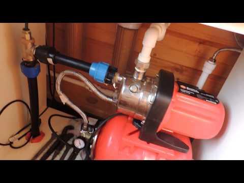 Вода в дом из колодца. Подключение насосной станции.