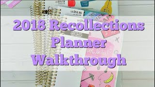 2018 Recollections Planner Walkthrough