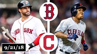Boston Red Sox vs Cleveland Indians Highlights || September 21, 2018
