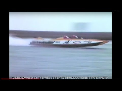 Sirois home video of Popeyes World Record Run. Boat Then Burns.