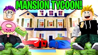 Can We Beat This 2 PLAYER MANSION TYCOON!? ($100,000,000 LANKYBOX MANSION BUILD!)
