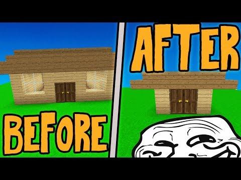 SHRINKING A NOOBS HOUSE! *HE FREAKS OUT* (Minecraft Trolling)