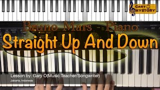 Bruno Mars - Straight Up And Down Easy Piano Tutorial/Lesson FREE Sheet Music NEW Song Cover 2016