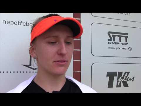 Tereza Smitková po výhře v 1. kole kvalifikace na J&T Banka Prague Open