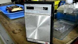 AIWA AR-666 6-TRANSISTOR SUPER RADIO JOAK NHK-1 666kHz Receive loca...