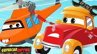 Super Car Royce | Compilation | Super car cartoons | All Episodes