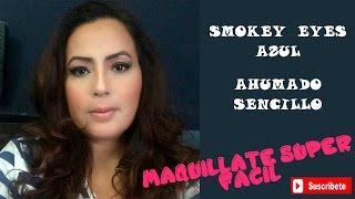 Maquillaje Fácil Ahumado- Smokey Eyes Azul