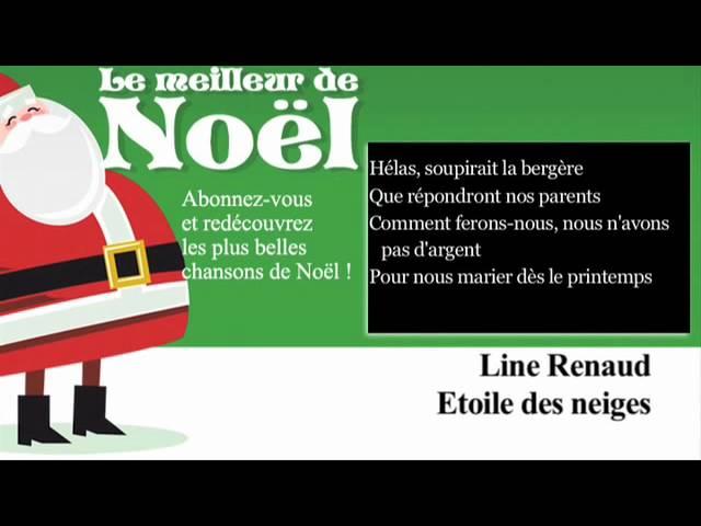 line-renaud-etoile-des-neiges-paroles-lyrics-noel