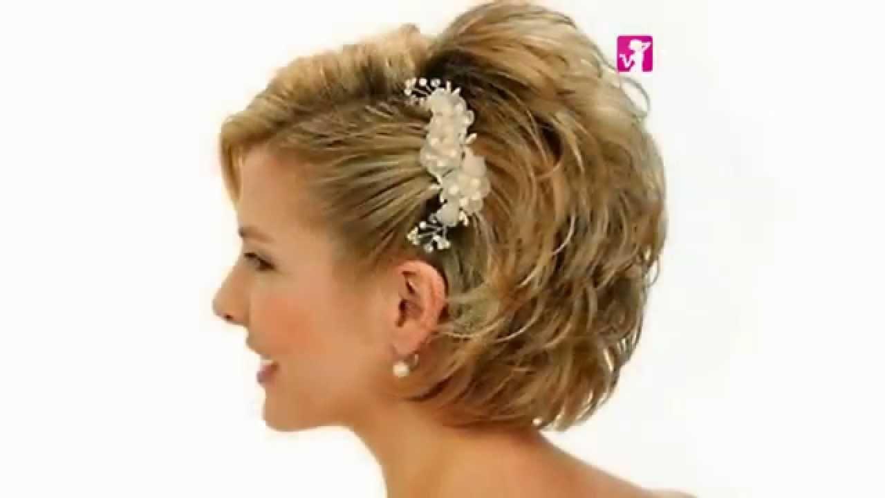 Peinados Novia Pelo Corto 2015 Tonific Peluqueria Tv Youtube - Peinados-para-novias-pelo-corto