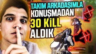 TAKIM ARKADAŞIMLA KONUŞMADAN 30 KİLL ALDIK! | PUBG Mobile - Duo vs Squad (Türkçe)