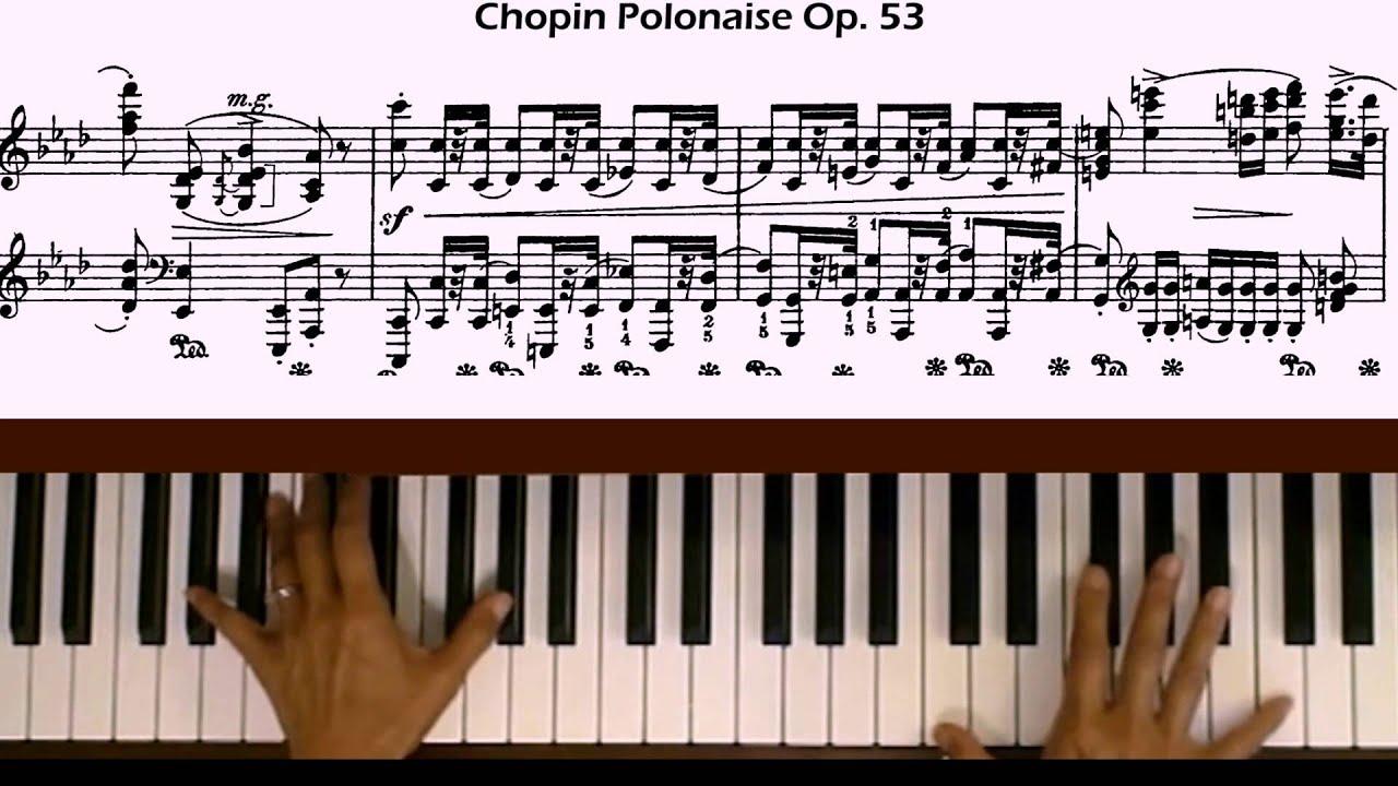 "Oginsky polonaise ""farewell to homeland"" piano tutorial youtube."