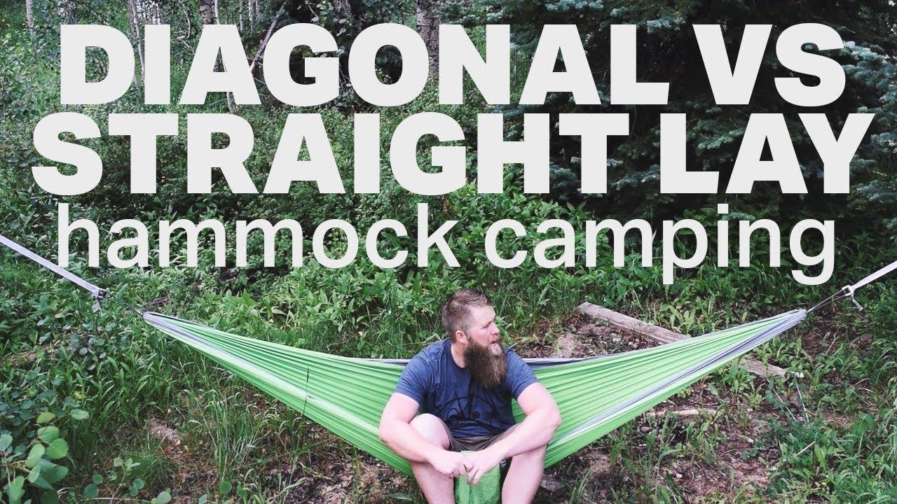 diagonal vs straight lay   mummy pod hammock camping diagonal vs straight lay   mummy pod hammock camping   youtube  rh   youtube