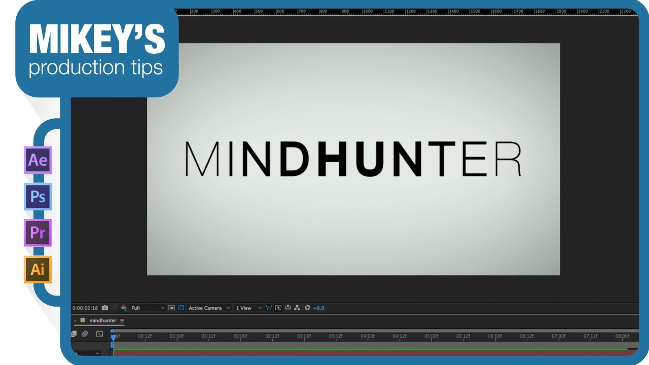 How to create 80s inspired movie titles with adobe after effects.