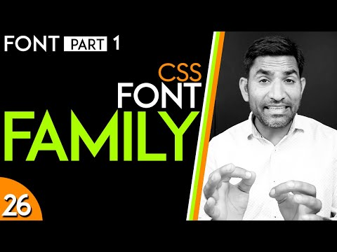 Font Property And Font Family In CSS_tutorial_26