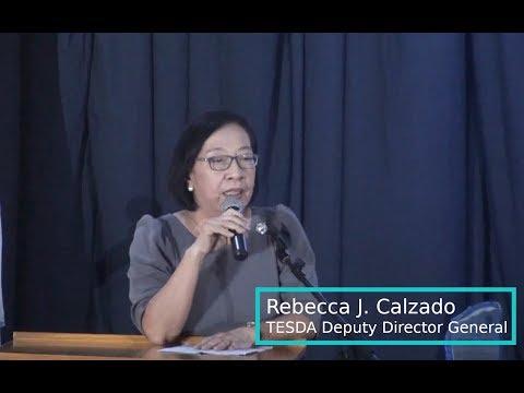 Rebecca J. Calzado Of TESDA - July 27, 2019