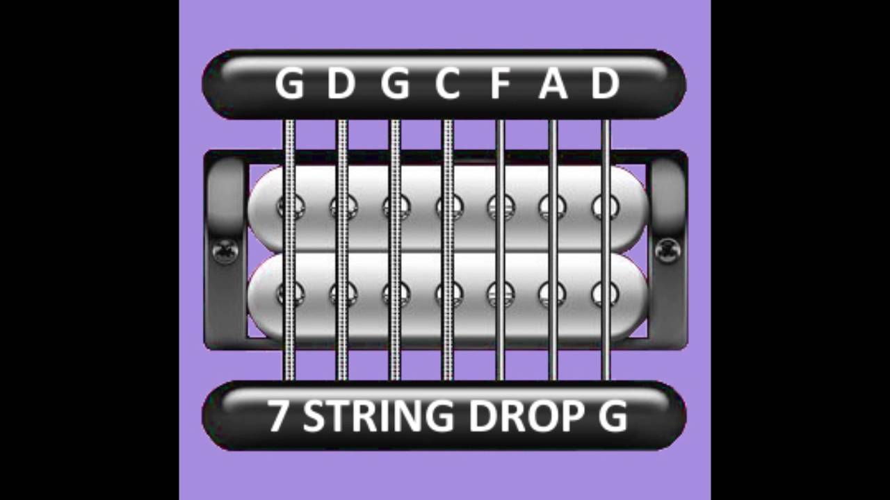 perfect guitar tuner 7 string drop g g d g c f a d youtube. Black Bedroom Furniture Sets. Home Design Ideas
