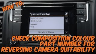 How To: Check VW Composition Colour Stereo Part Number