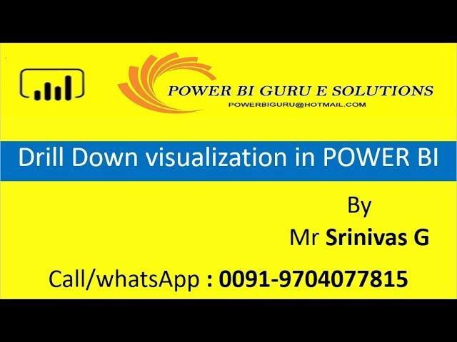 Drill Down Visualization in Power Bi | PowerBI Training |Power Bi tutorial | PowerBI Guru