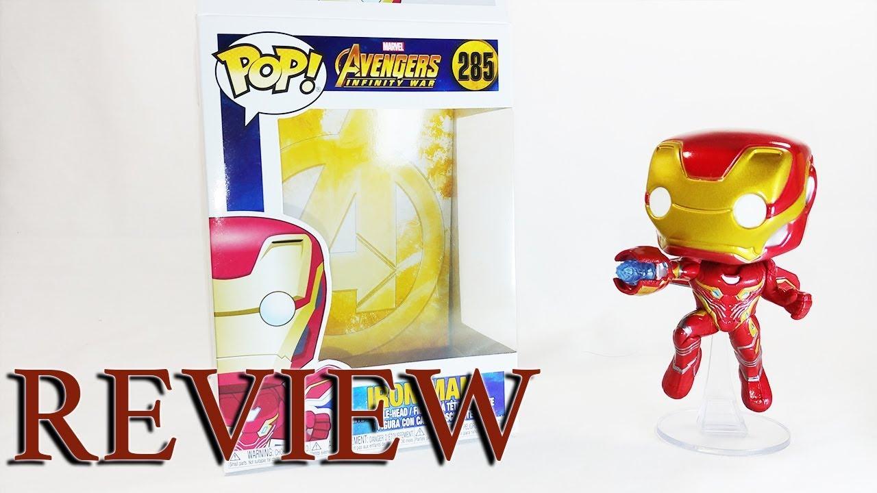 Funko Iron Man Vinyl Figure Marvel n° 285 Avengers Infinity War Pop
