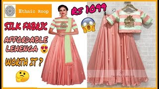 I tried ETHNICROOP affordable peach lehenga Rs 1099 review | ETHNICROOP lehenga under Rs 1000