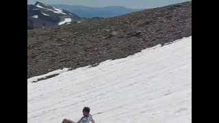 Glissading Down Third Burroughs Peak