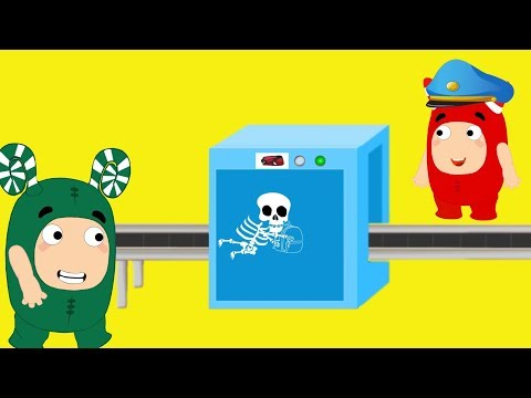 Oddbods crying accidently passes through x-ray machine - Oddbods funny pranks full compilation