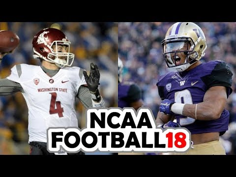 Washington State @ Washington - 11-25-17 NCAA Football 18 PRESEASON Simulation