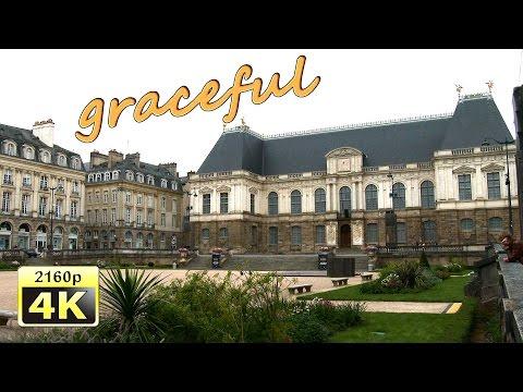 Rennes, city walk - France 4K Travel Channel
