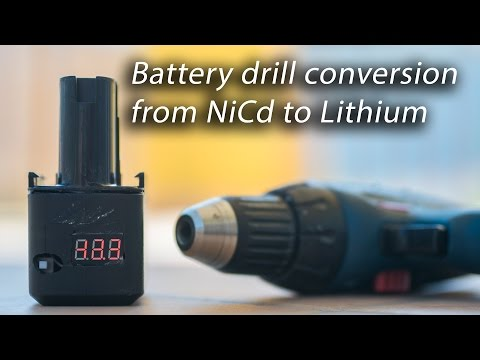 Battery Drill converted to Lithium 18650 cells