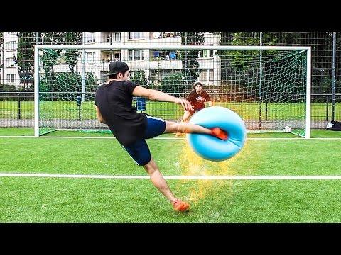GYMNASTIKBALL FUßBALL CHALLENGE !