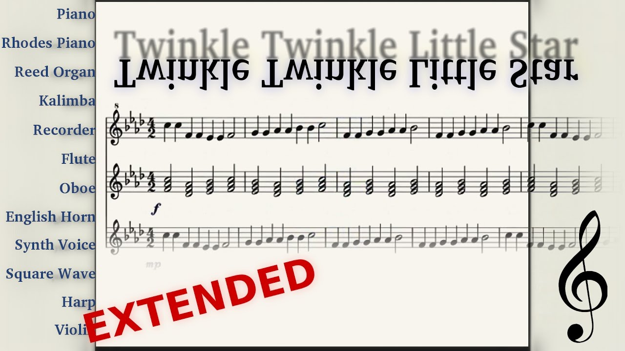 Inverted twinkle twinkle sounds like anime videogame inverted twinkle twinkle sounds like anime videogame midiflip extended orchestral version hexwebz Gallery