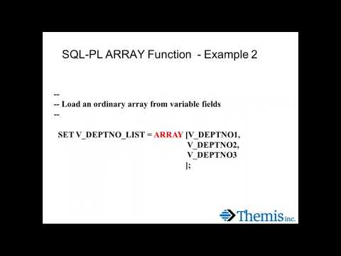 Db2 SQL PL Array Parameters and Variables
