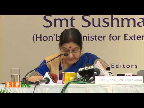 EAM Sushma Swaraj at book launch of 'The Modi Doctrine: New Paradigm in India's Foreign Policy'