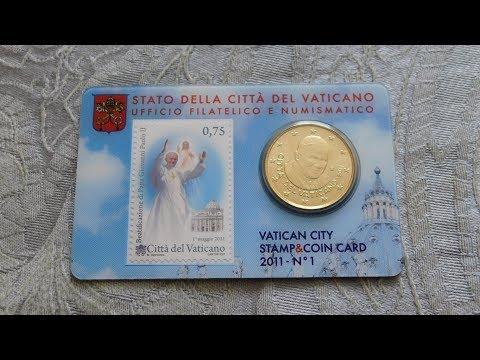 Vatican Coin & Stamp Card Set!