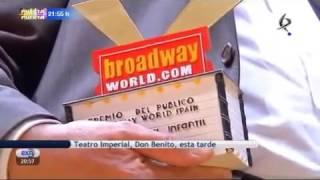 MEJOR MUSICAL INFANTIL POR LOS PREMIOS  BROADWAY WORLD SPAIN 2013. (TAMARA AGUDO FUE DORITA)