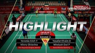 Yeremia Erich/Winny O (SKO Ragunan/Tangkas Jakarta) VS Yosafat E/Windyah D (Guna Dharma Bandung)