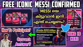 Free Iconic Messi Confirmed | Steps To Sign Him In PES 2021 | Correct Answer For Tweeting ?