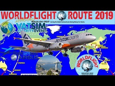 FSlabs A320 On Vatsim WorldFlight 2019 Rio De Janairo, Salvador Bahia, Fortaleza