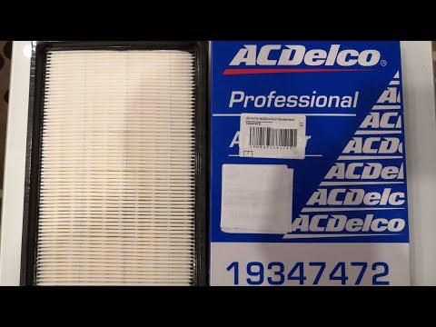 Обзор фильтра воздушного ACDELCO артикул 19347472