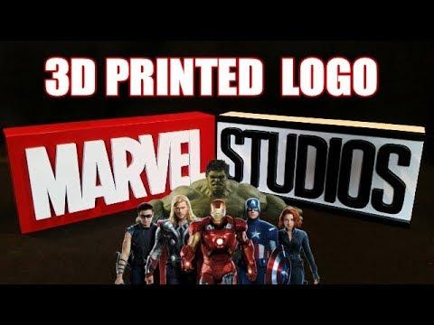 3D Printed MARVEL STUDIOS Logo
